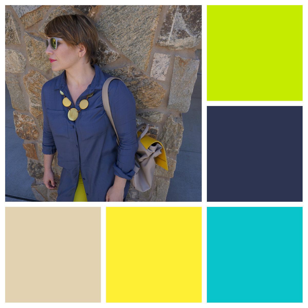 outfit #1 color palette